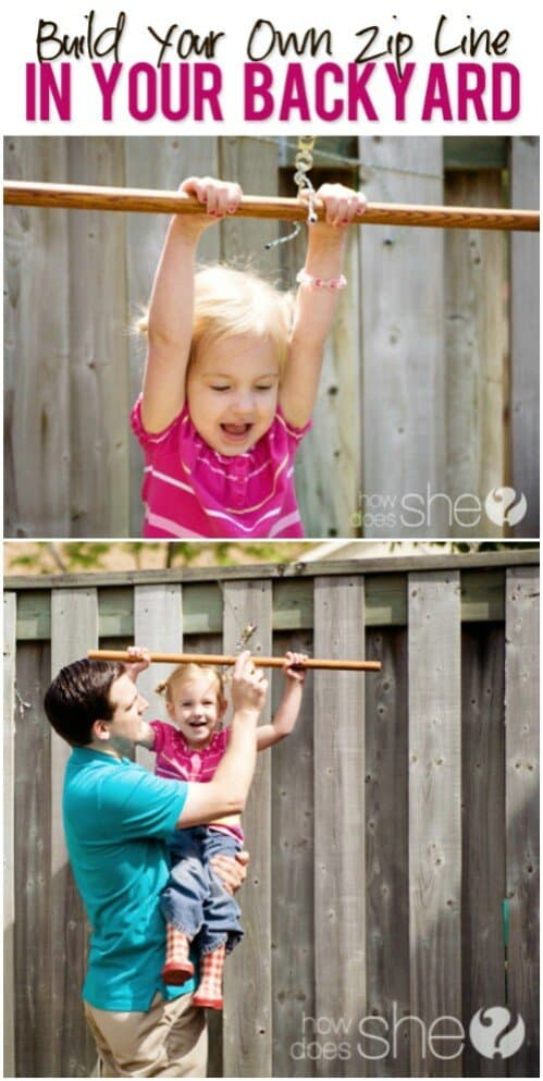 Create a Zip Line for Your Kids