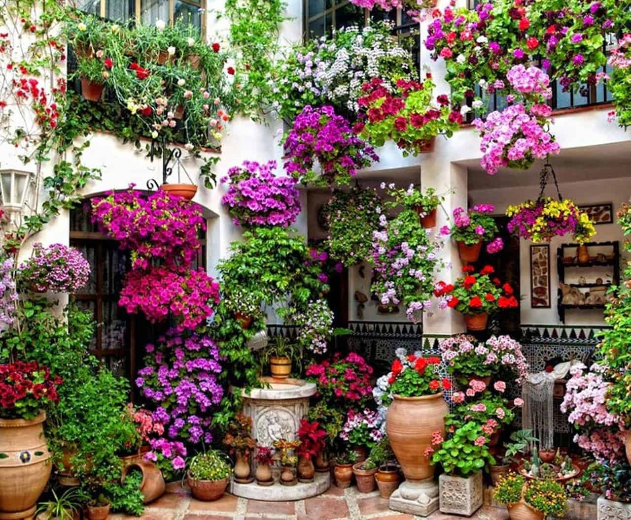 19-a-two-story-hanging-garden-of-flowers-vertical-garden-decor