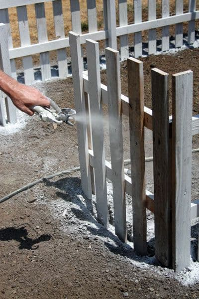 Wooden Pallet Picket Fence