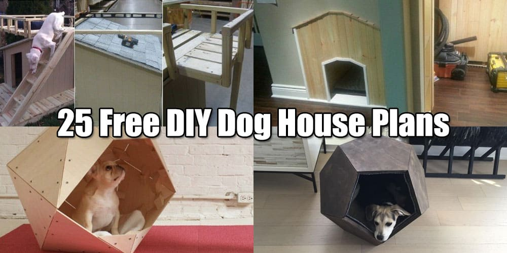 25 Free DIY Dog House Plans