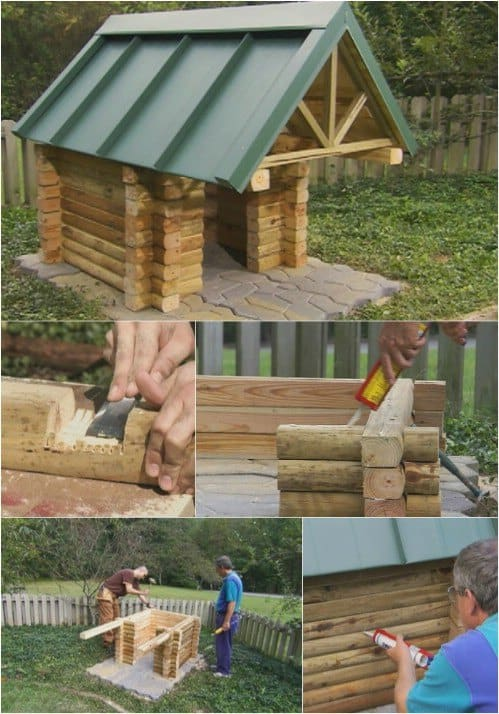 A Log Cabin Adventure Doghouse