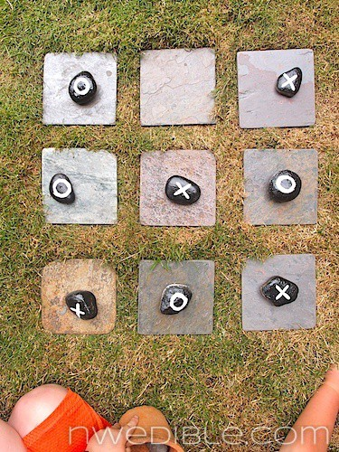 Add An Exciting DIY Tic-Tac-Toe Board To Your Back Yard