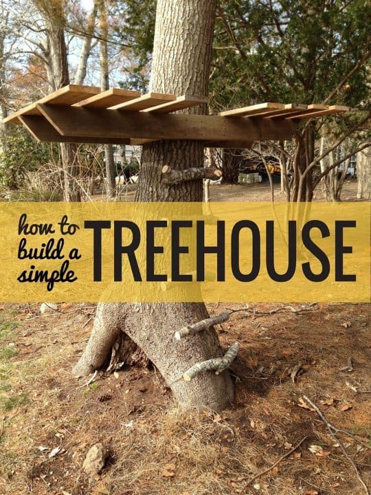 "A Simple DIY ""Treehouse"" For Kids"