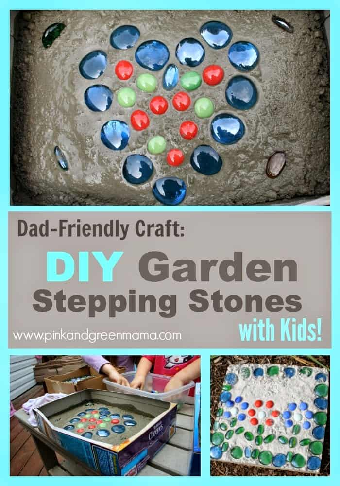 Colorful And Fun Child Stepping Stones Arts & Crafts Project