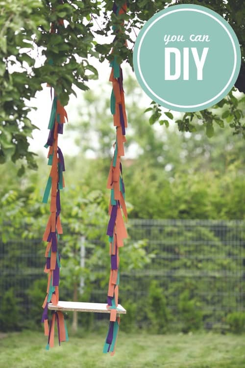 A Colorful 'Budget-Friendly' DIY Swing