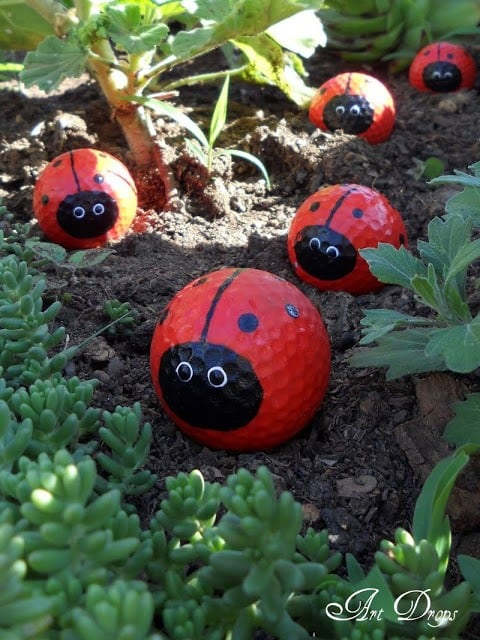 DIY Cute Garden Laddy Bugs And Critters!