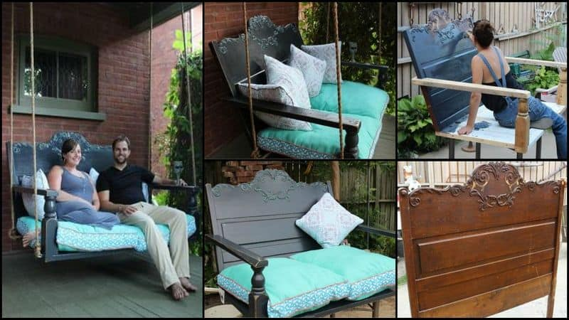 A DIY Headboard Lounge Swing