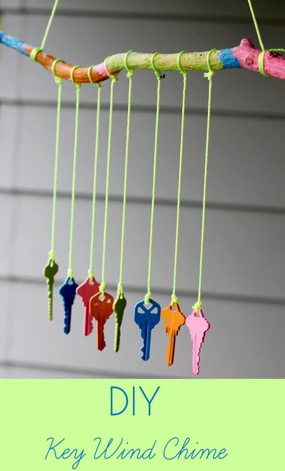 A Colorful DIY 'Key Windchime' Project For Outdoors
