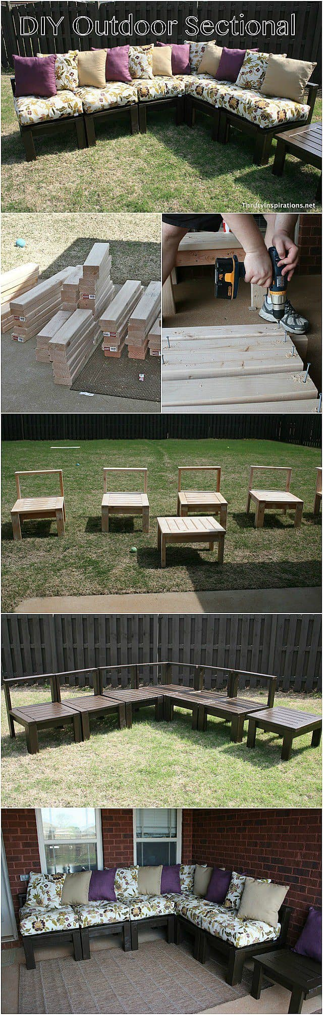 A DIY Outdoor Wooden Sectional Couch For Any Occasion