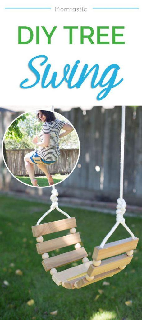 A Perfectly Fashionable DIY Tree Swing For Families