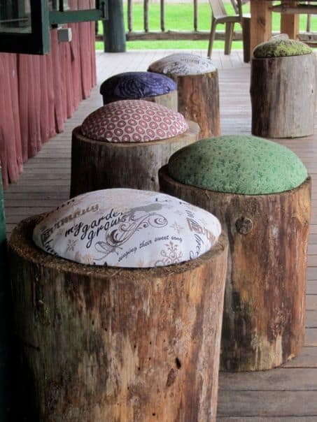 Spectacular DIY Log And Tree Stump Chairs For Your Garden