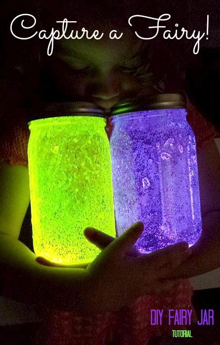 DIY Glowing 'Capture A Fairy' Mason Jars