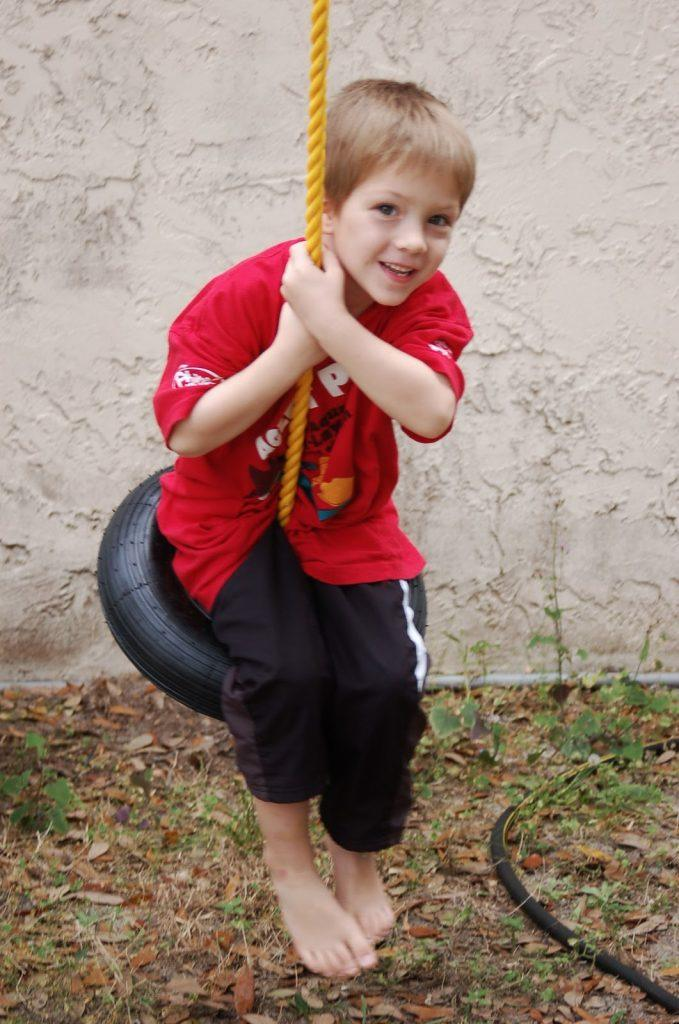 A Budget-Friendly Tire Swing for Kids