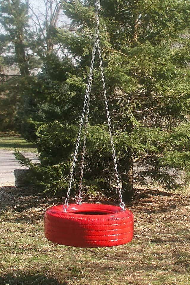 A Fun Tire Swing with Personality!