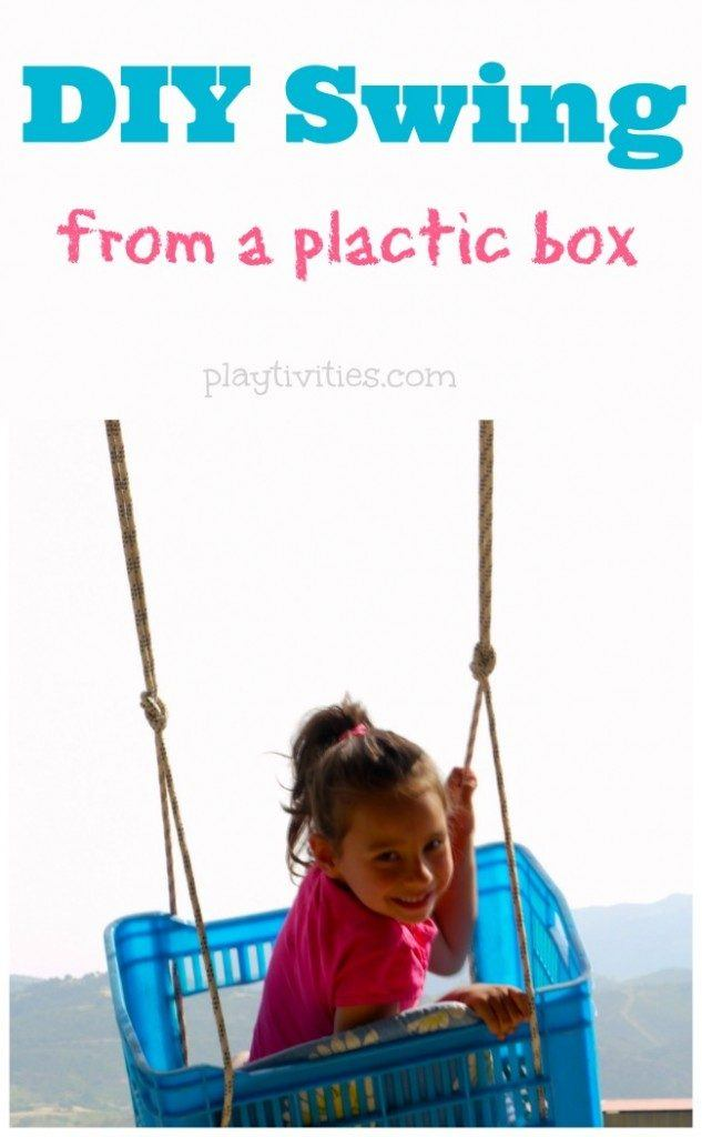 The DIY 'Plastic Box Swing' for Kids
