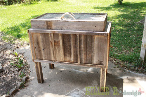 The DIY 'Rustic' Cooler For Outdoor Barbeques