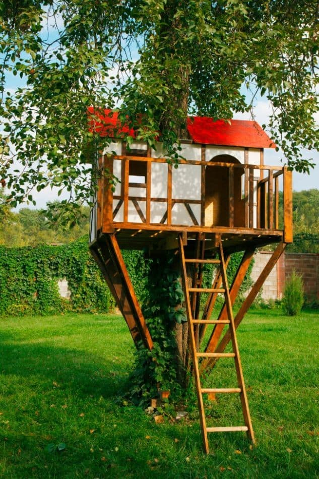 Perfect little treehouse hideaway for kids