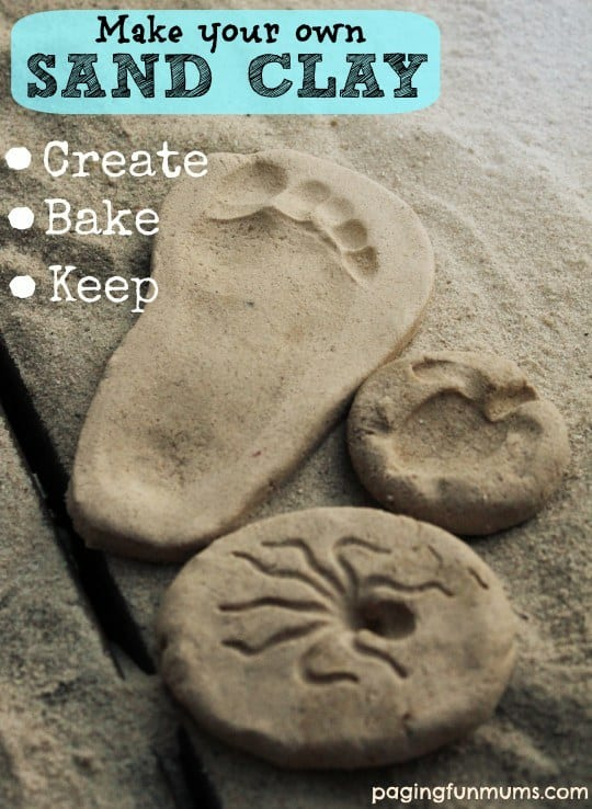 DIY Easy Bake And Shape Clay Sand Creations