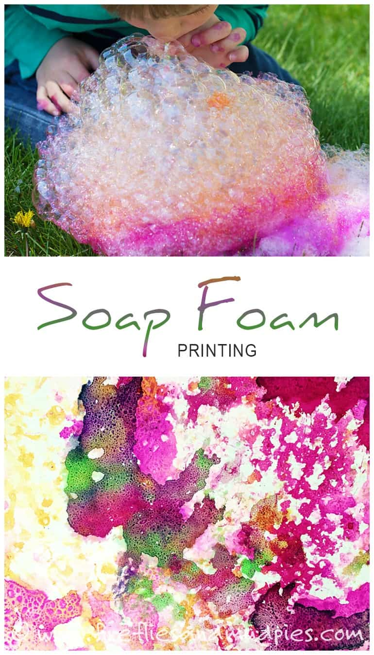 "Let Your Kids ""Print"" Their Own Soapy Foam Adventures!"