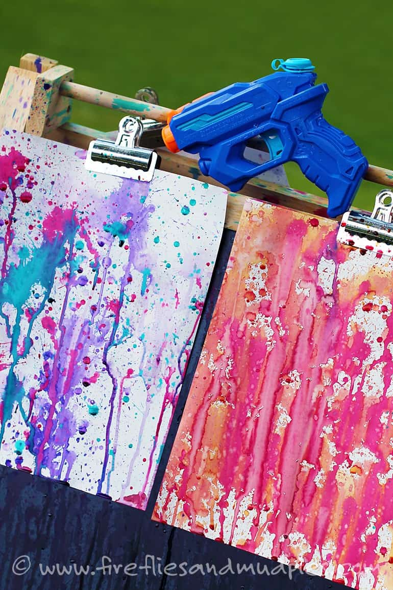 DIY Squirt Gun Paint For Kids