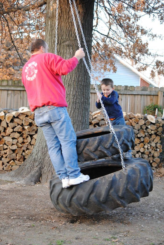 The DIY Tractor Tire Swing