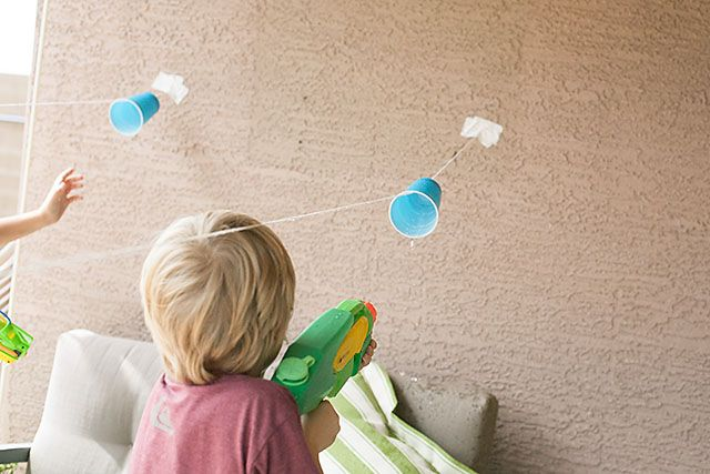 Explosive Water Fun: Cup Races And Water Guns!