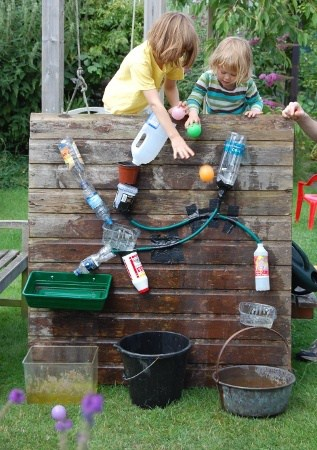 A DIY Fun 'Waterfall Wall' For Kids!