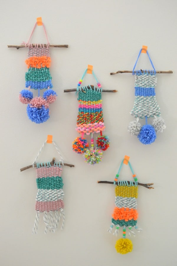 DIY Weaving And Knitting Project For Kids