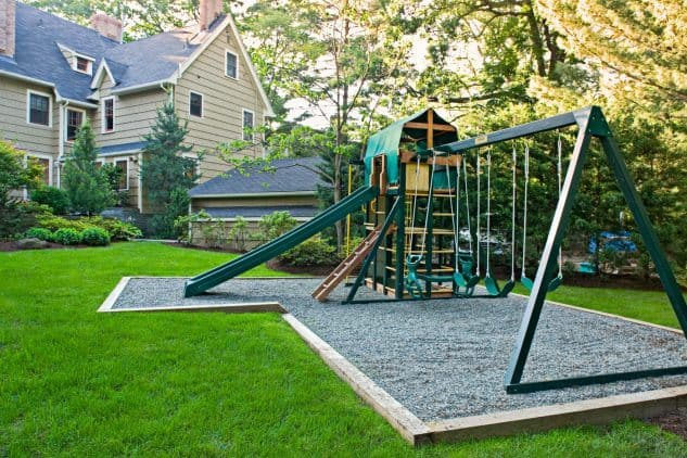Playspace with multiple bars and ladders to climb up and down