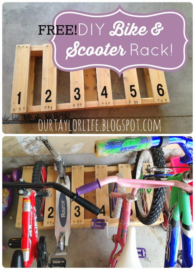 Back Yard Wooden Pallet Bike Rack