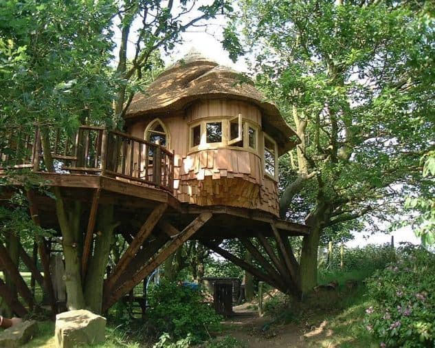 Cozy treehouse with beautiful porch