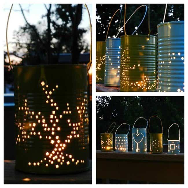 Upcycled lanterns