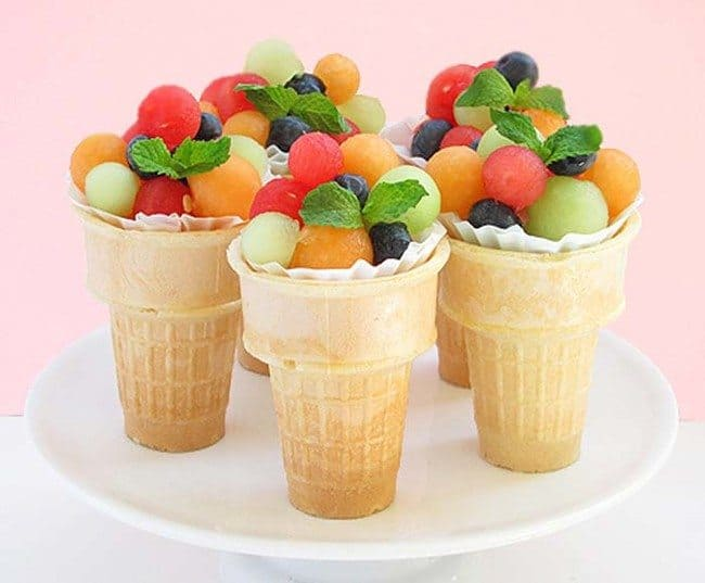 "A healthy and attractive Snack! ""Fruit Snack Cones"""