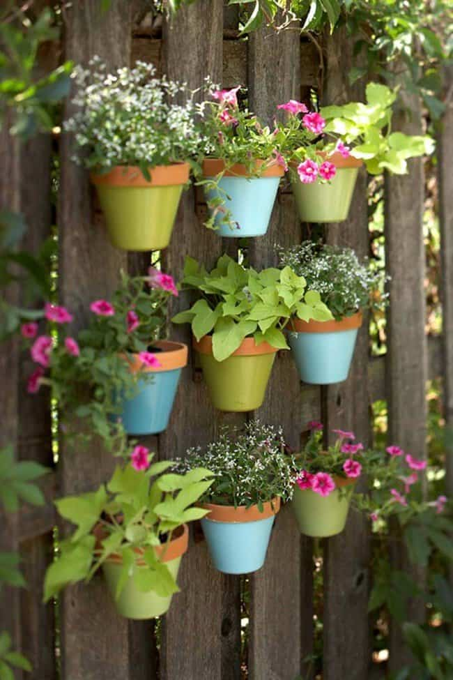 DIY Vertical Fence Planters