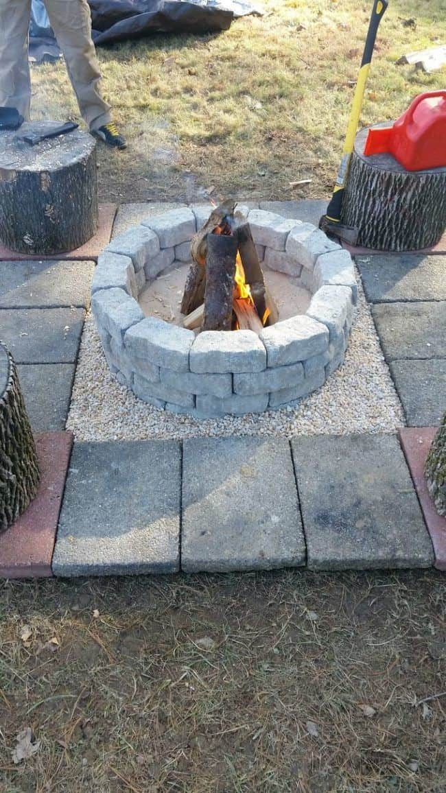 Easy stone firepit you can build