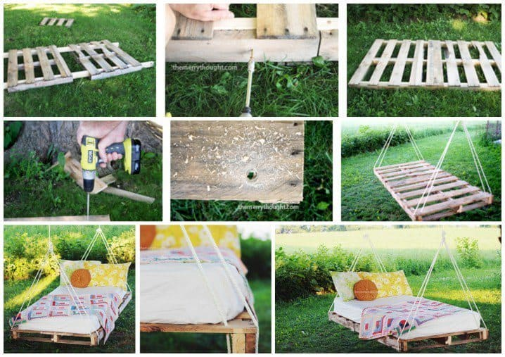 An Exciting DIY Wooden Pallet Garden Swing
