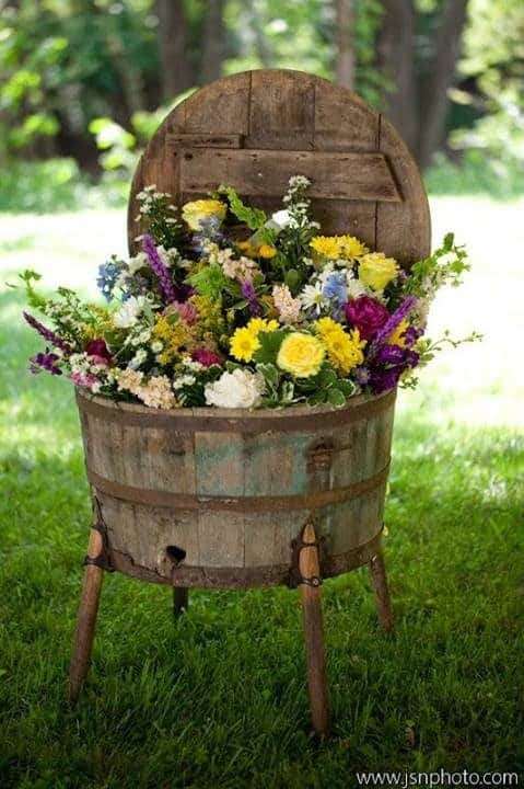 Turning Wooden Barrels into Beautiful planter box