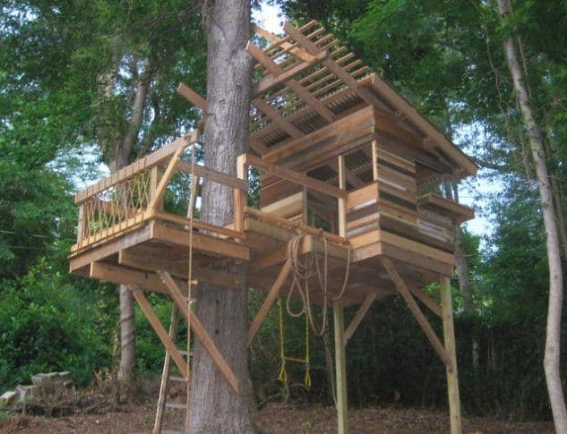 Ropes and Ladders treehouse
