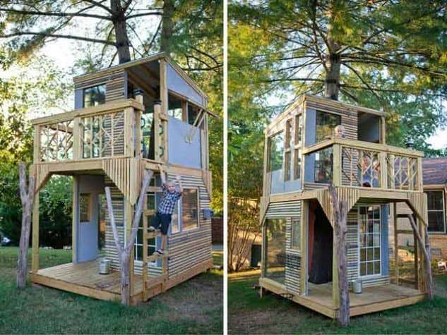 Double-Decker treehouse for kids