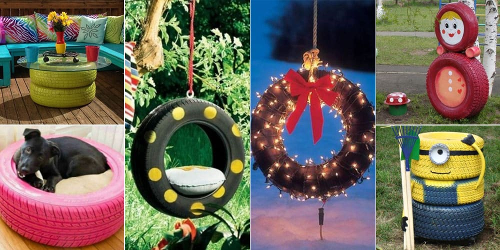old tires recycled useful ideas