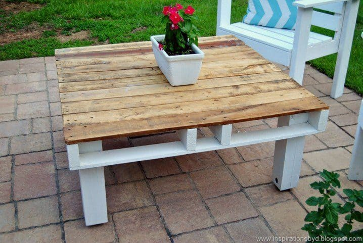 DIY Outdoor Wooden Pallet Coffee Table