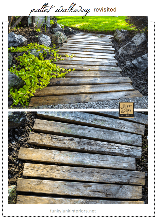 A Beautiful Outdoor Wooden Pallet Walkway