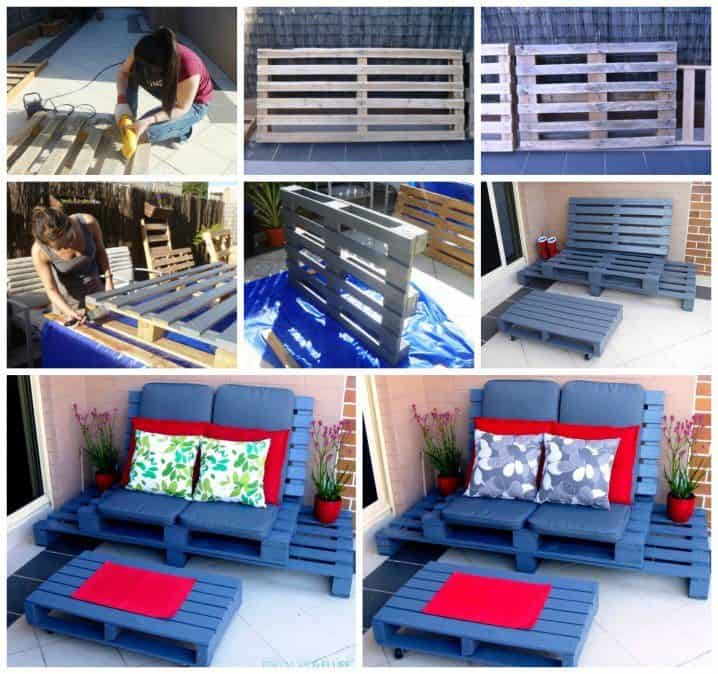 The DIY Wooden Pallet Bench And Table