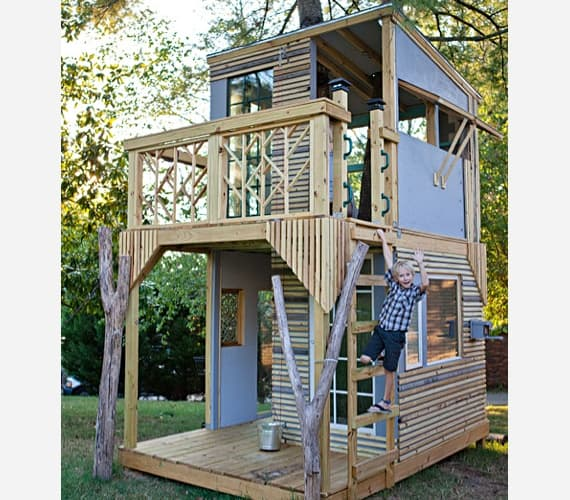 Two story adventure treehouse playground