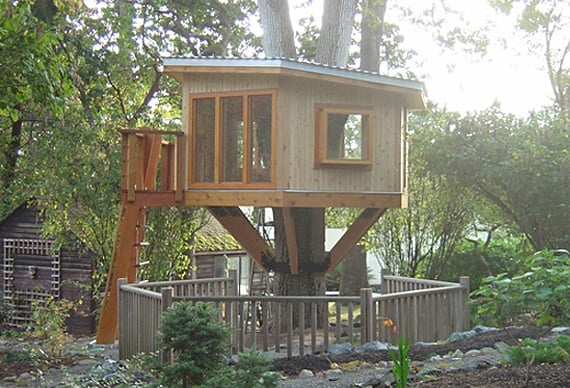 Treehouse design by Frank Lloyd Wright