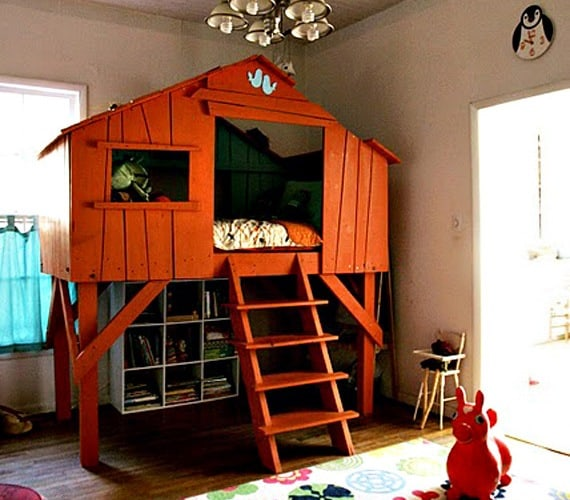 Indoor kids treehouse