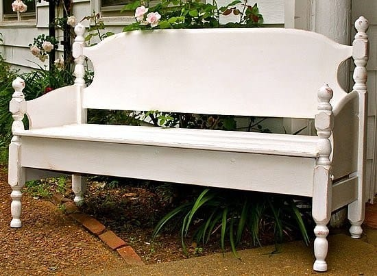 DIY Garden Bench from a Bed