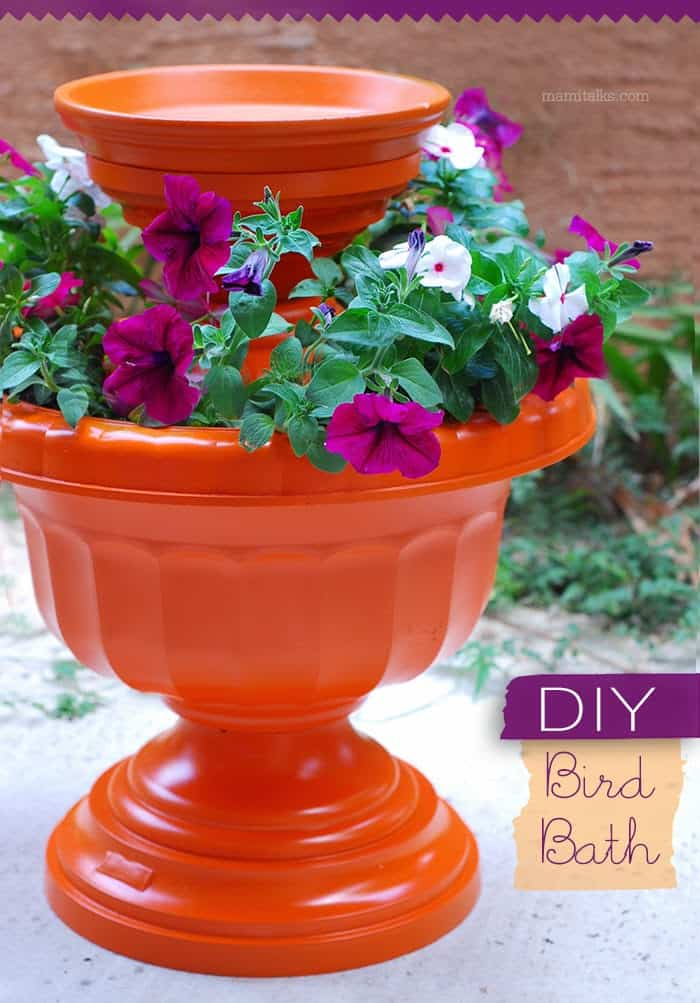 DIY Bird Bath Pottery Project