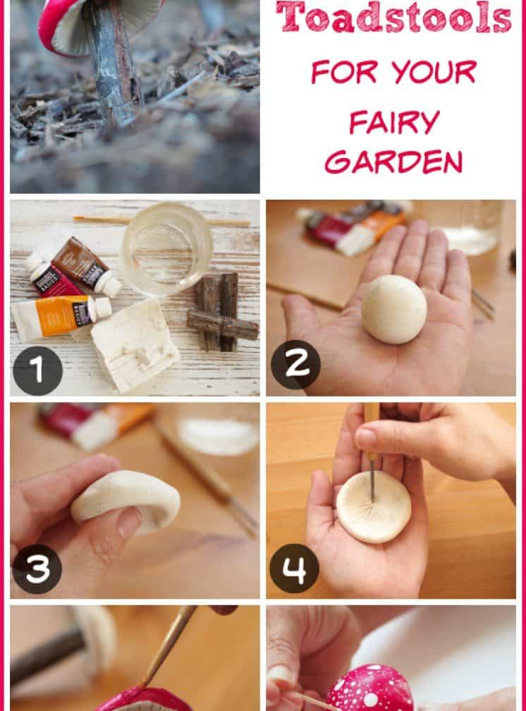 Exciting DIY Clay Toadstools For Your Garden