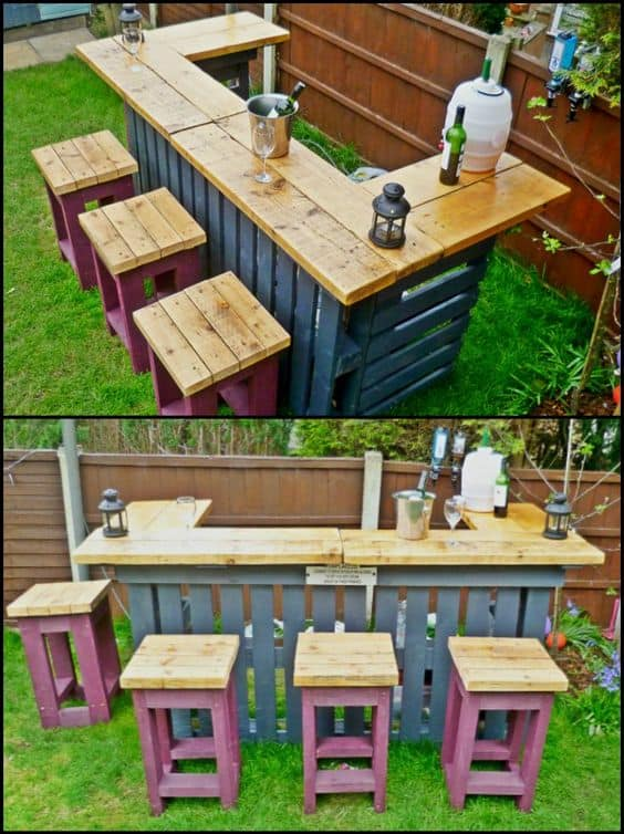 Full Service Wooden Pallet Bar